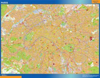 Carte Paris plastifiée